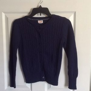 Cat&Jack Girl's Navy Buttoned Cardigan